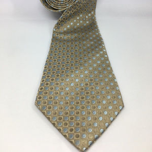 Club Room Men's Olive with Dots Pattern Necktie